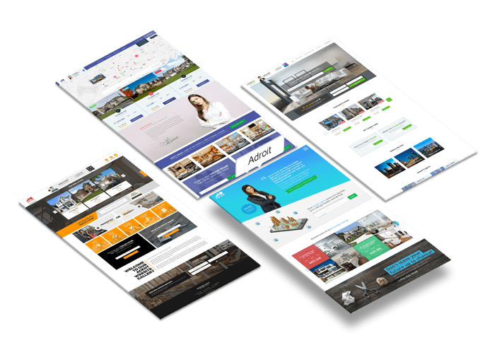 Real Estate Agent Website Design:Adroit