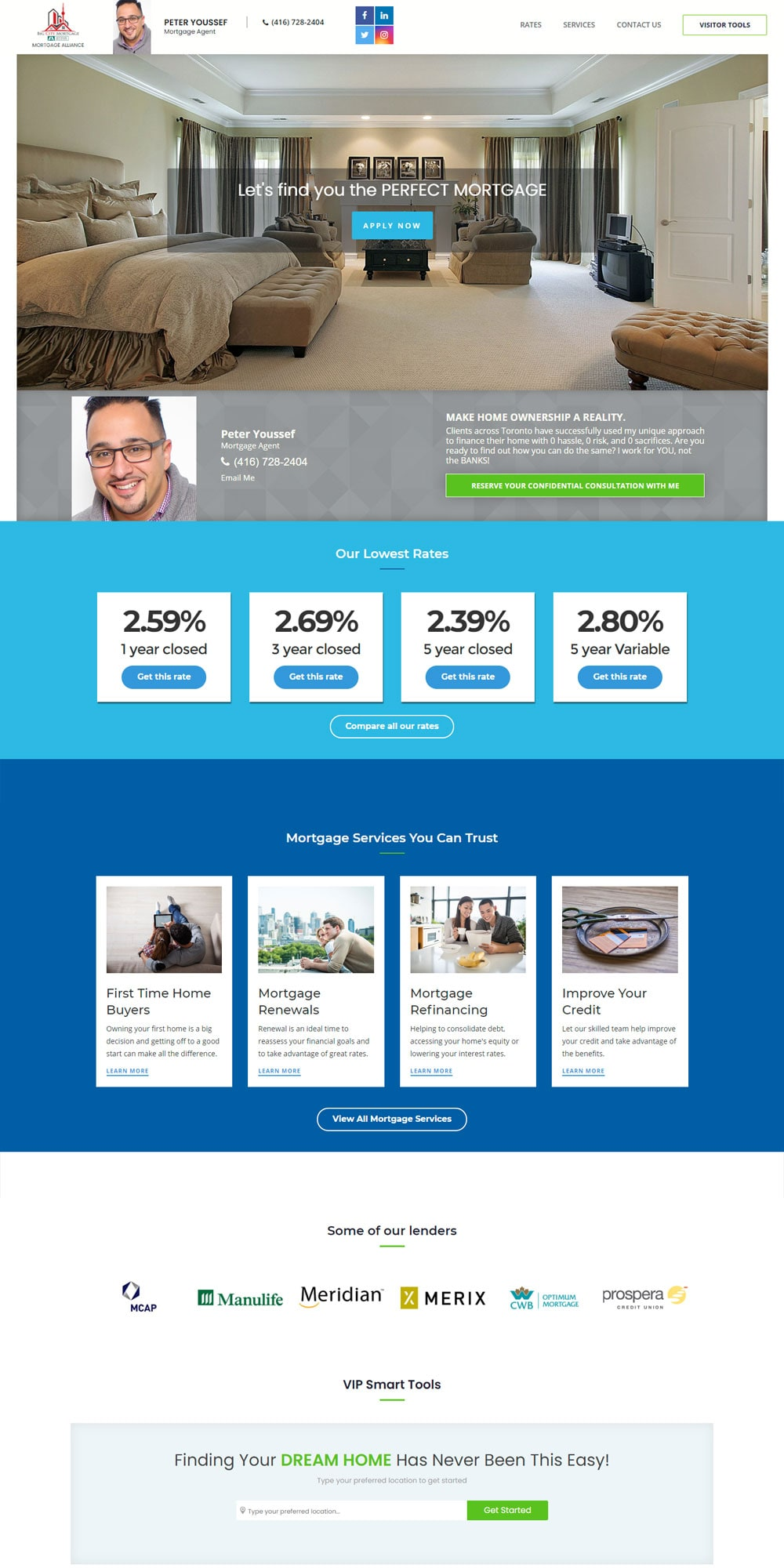 Real Estate Agent Website Design: Peter Youssef