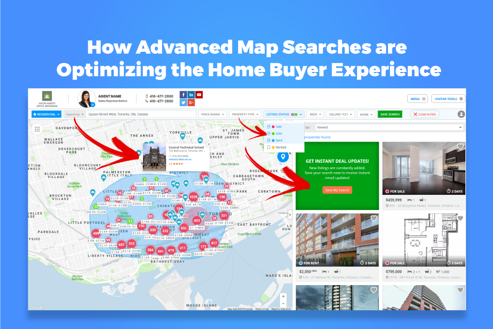 Canada Real Estate Map Search Real Estate Advanced Map Searches are Optimizing the Home Buyer