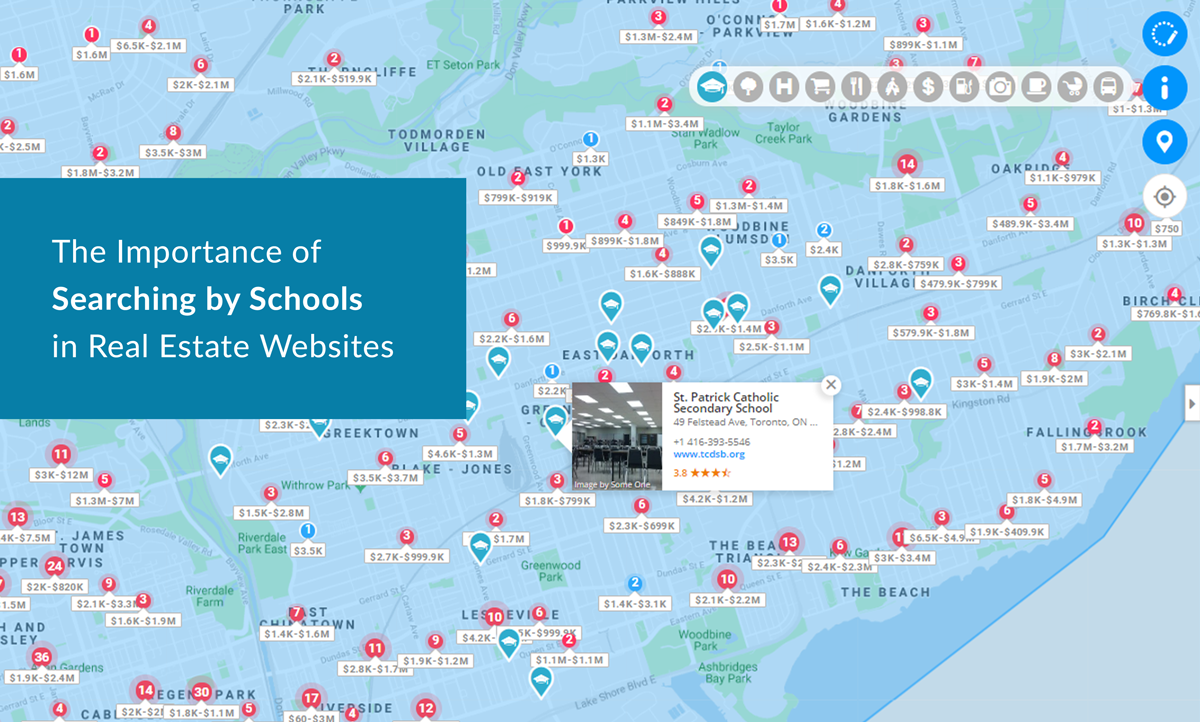 real estate website map search