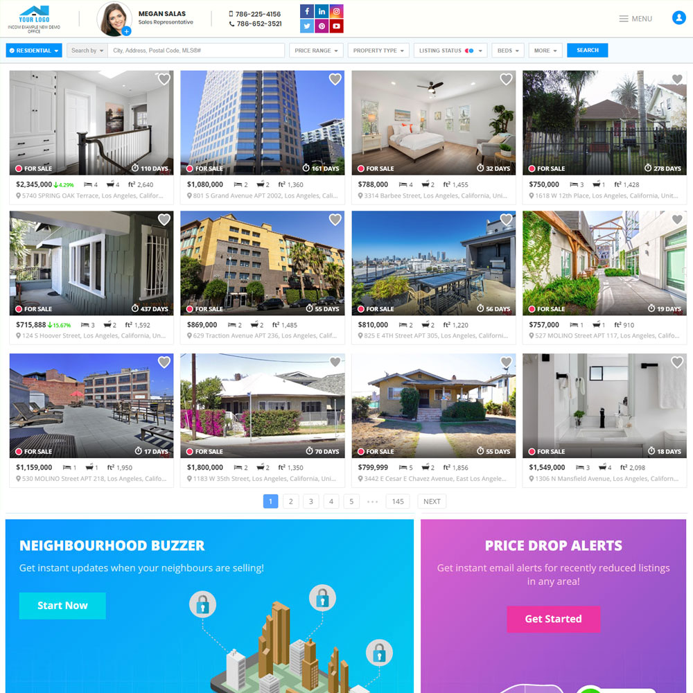 Real Estate Agent Website Design: Listio